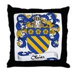 Olivier Family Crest Throw Pillow