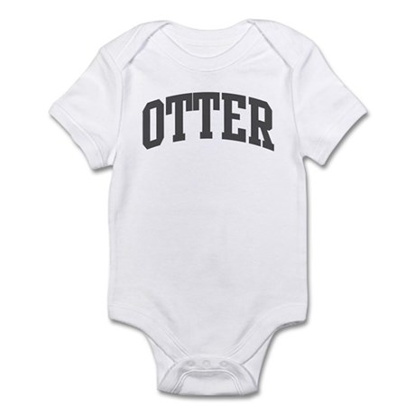Otter (curve-grey) Infant Bodysuit