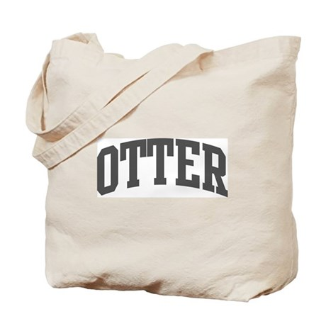 Otter (curve-grey) Tote Bag