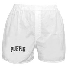 Puffin (curve-grey) Boxer Shorts