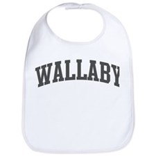 Wallaby (curve-grey) Bib