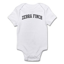 Zebra Finch (curve-grey) Infant Bodysuit