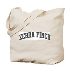 Zebra Finch (curve-grey) Tote Bag
