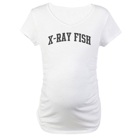 X-Ray Fish (curve-grey) Maternity T-Shirt