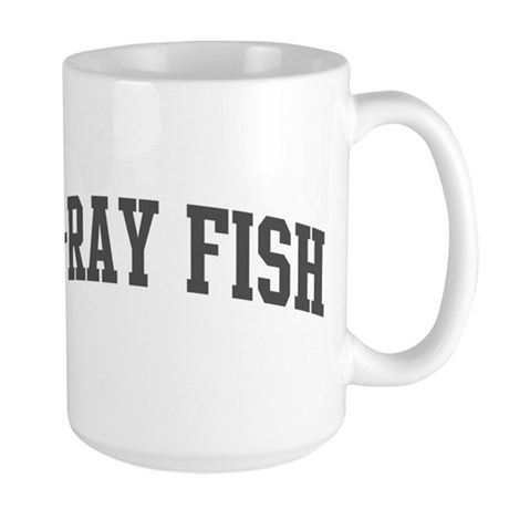 X-Ray Fish (curve-grey) Large Mug