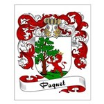 Paquet Family Crest Small Poster