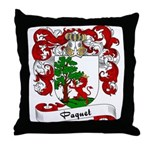 Paquet Family Crest Throw Pillow