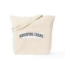 Whooping Crane (curve-grey) Tote Bag