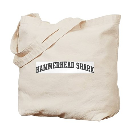 Hammerhead Shark (curve-grey) Tote Bag