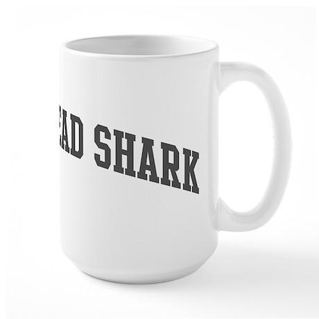 Hammerhead Shark (curve-grey) Large Mug