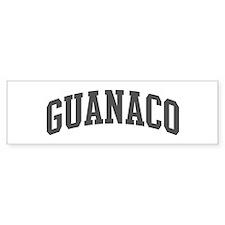 Guanaco (curve-grey) Bumper Bumper Sticker