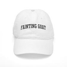 Fainting Goat (curve-grey) Baseball Cap