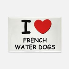 I love FRENCH WATER DOGS Rectangle Magnet (10 pack