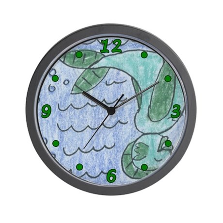 Fish girl wall clock by strange journey for Fish wall clock