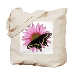 Black Swallowtail and Flower Tote Bag