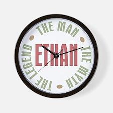 Ethan Man Myth Legend Wall Clock