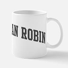 American Robin (curve-grey) Mug