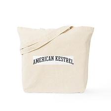 American Kestrel (curve-grey) Tote Bag