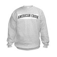 American Crow (curve-grey) Sweatshirt