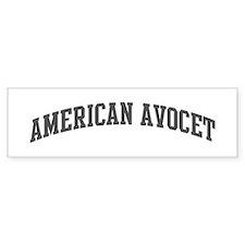 American Avocet (curve-grey) Bumper Bumper Sticker