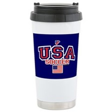 USA American Soccer Travel Mug