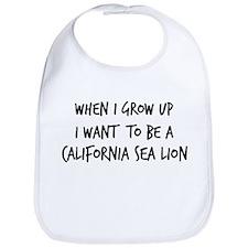 Grow up - California Sea Lion Bib