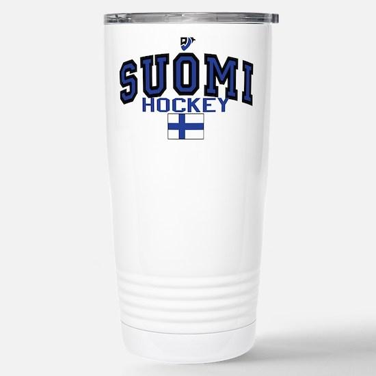 Finland(Suomi) Hockey Stainless Steel Travel Mug