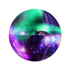 "Disco Mirrorball 3.5"" Button"