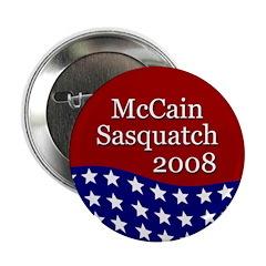 McCain - Sasquatch campaign button