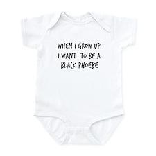 Grow up - Black Phoebe Infant Bodysuit