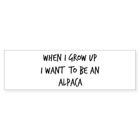 Grow up - Alpaca Bumper Sticker