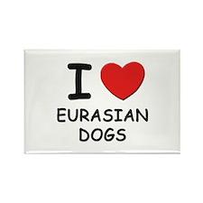 I love EURASIAN DOGS Rectangle Magnet