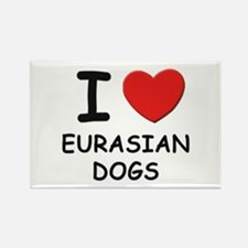 I love EURASIAN DOGS Rectangle Magnet (10 pack)