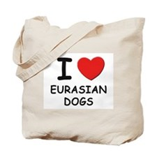 I love EURASIAN DOGS Tote Bag