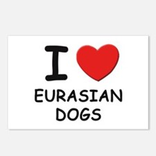 I love EURASIAN DOGS Postcards (Package of 8)