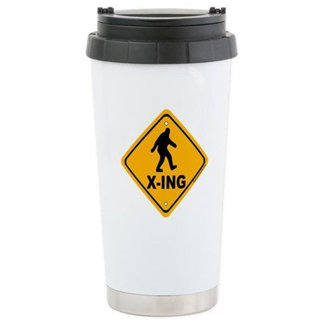 Bigfoot Crossing Stainless Steel Travel Mug