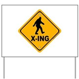 Bigfoot crossing sign Yard Signs