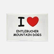 I love ENTLEBUCHER MOUNTAIN DOGS Rectangle Magnet