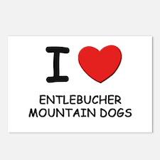 I love ENTLEBUCHER MOUNTAIN DOGS Postcards (Packag