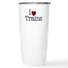 I Love Trains Travel Coffee Mug