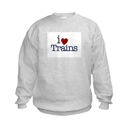 I Love Trains Kids Sweatshirt