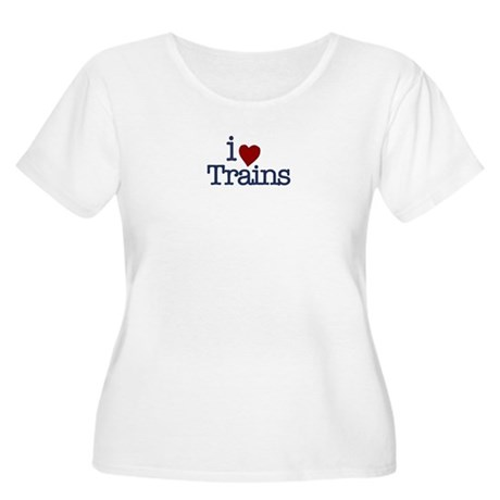 I Love Trains Women's Plus Size Scoop Neck T-Shirt