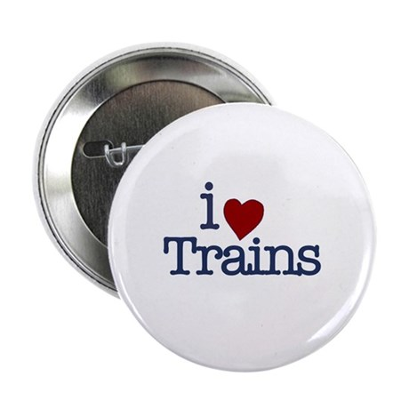 "I Love Trains 2.25"" Button"