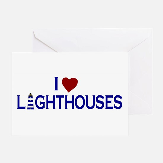 I Love Lighthouses (new) Greeting Card