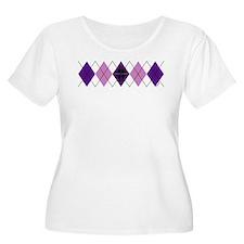 Purple Plaid Argyle T-Shirt