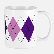 Purple Plaid Argyle Mug