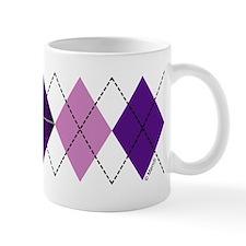 Purple Plaid Argyle Small Mug