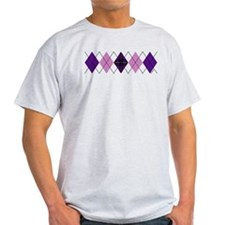 Purple Plaid Argyle T-Shirt