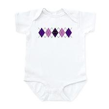 Purple Plaid Argyle Infant Bodysuit