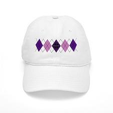Purple Plaid Argyle Baseball Cap